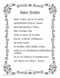 prayer sheet pater noster in blk wht that resource site