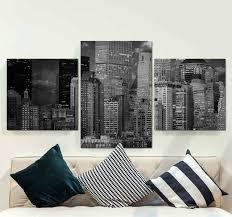 wandbild modern moderne schwarz weiß stadt