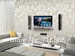 Feature Wall Wallpaper Ideas Living Room Astana