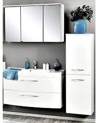 badmöbel set hochglanz weiß 3 teilig waschtisch badezimmer