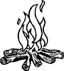 Fire On Stove Clipart Black And White