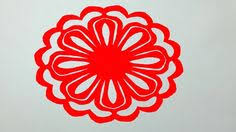 How To Make Simple Paper Cutting Flowerspaper Design For Home Decor DIY