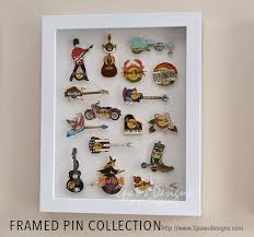 Framed Pin Collection DisplaysHard RockEasy
