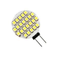 warm white g4 24 smd led l light car bulb 12v ac 2pcs lot