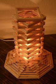 Cool Craft Stick Lamp With A Geometric Design
