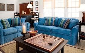 cindy crawford beachside denim sofa sofas home decorating with