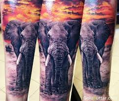 Great African Elephant Tattoo