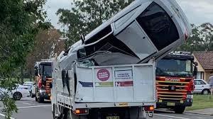 100 Truck It Transport Car Flips Lands In Sydney Council Truck PerthNow