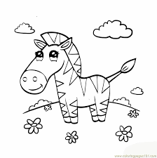 Cute Zebra Coloring Page Download