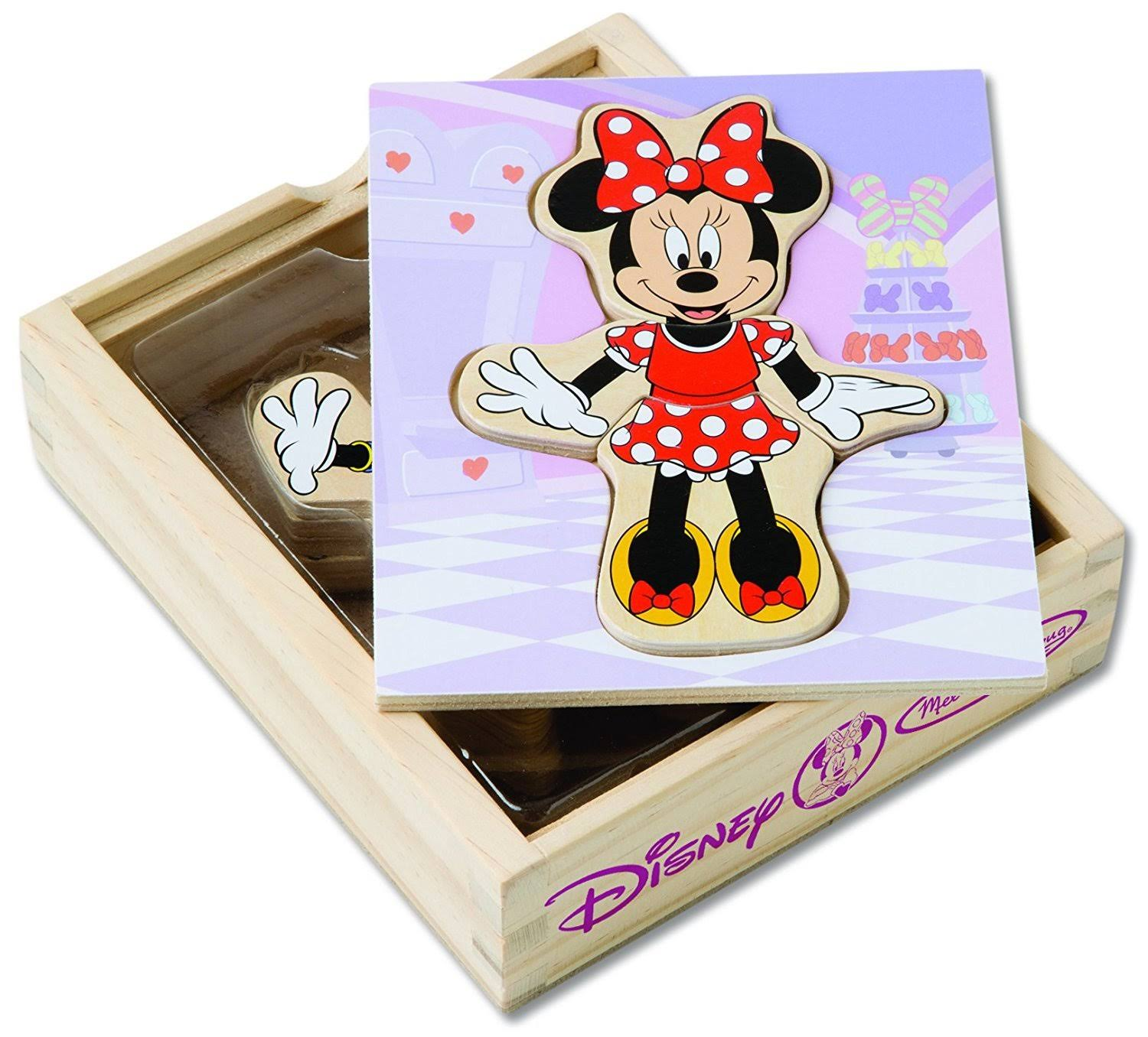 Melissa & Doug Disney Minnie Mouse Magnetic Dress-Up Wooden Doll Pretend Play Set