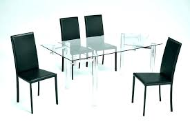Extendable Glass Dining Table Expandable Room Furniture Top S