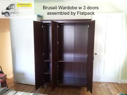 Bissa Shoe Cabinet Manual by Ikea Brusali Wardrobe With 3 Doors Article Number 402 501 67 The