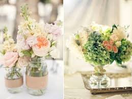 Chic Spring Wedding Table Centerpieces