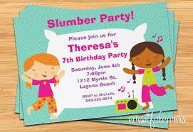Teresa Slumber Party Invitation Template