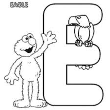 Coloring Pages Of Letter E For Elmo