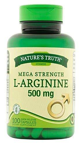 Nature's Truth L-Arginine 500mg Capsules - x100