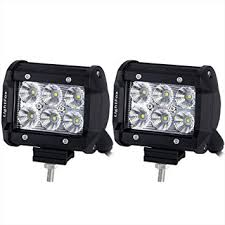 lightfox 2pcs 4inch 18w flood cree led light bar