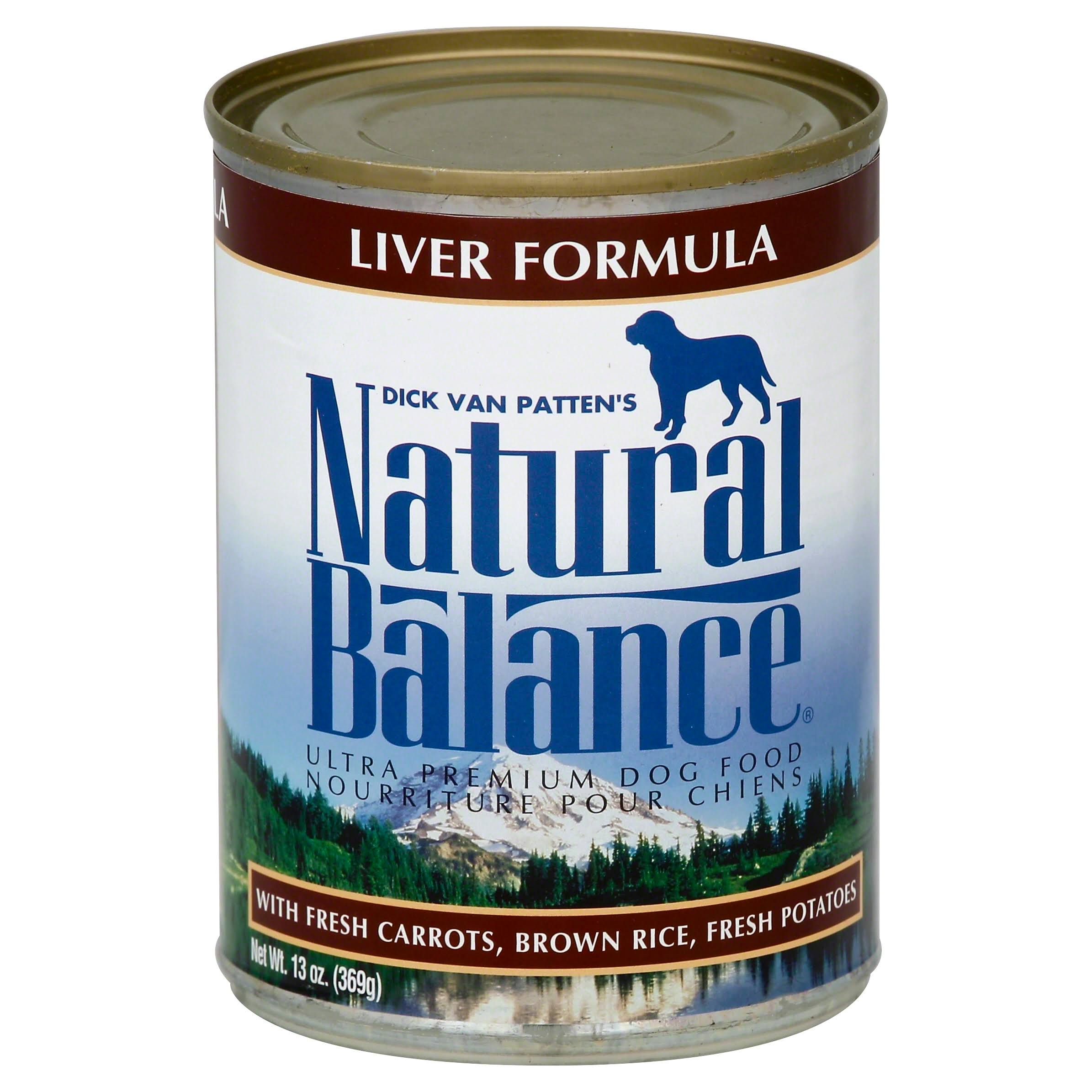 Natural Balance Ultra Premium Dog Food - Liver Formula, 13oz