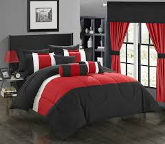 Black And Red Bedroom Ideas by Bedroom Extraordinary Red And Gray Bedspread Red Comforter Queen