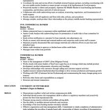 Commercial Banker Resume Samples