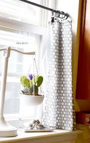 curtains stylish endearing grey white polkadot kitchen curtains