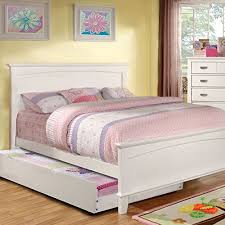 Amazon Colin Transitional White Full Size Bed w Trundle