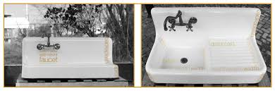 Farmhouse Sink With Drainboard And Backsplash by How Old Is Your Farm Sink We Can Help Date It Re