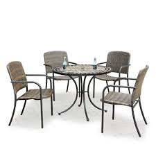 Homestyles Marble Top 5-Piece Round Outdoor Dining Table & 4 Chairs ... Kitsch Round Glass Table Set Of 4 Chairs Dfs Ireland Mcombo Mcombo Ding Side 4ding Clear Ingatorp And Chairs White Ikea Cally Modern Table With La Sierra Fniture Grindleburg 60 Woodstock Carisbrooke Barker Stonehouse Dayton 48 Upholstered Shop Hlpf5cap 5 Pc Small Kitchen Setding Hanover Traditions 5piece In Tan A Jofran Simplicity Chair Slat Back Pier 1 W Aptdeco Rovicon Lulworth Pedestal