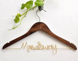 Personalized Bride Hanger Bridal Shower Gift Bridesmaid Gifts Custom Wedding