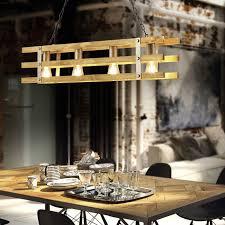 industrielle hängele stahl mit holz 4 licht paleta