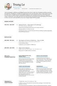 Healthcare Resume Examples Lovely Medical Doctor Samples Visualcv Database