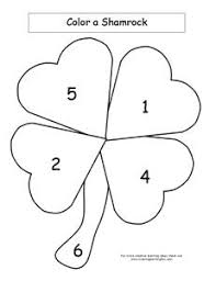 Patricks Day Color A Shamrock Print The Page Below For Each Child Have Them Identify Number Then Portion Of With That