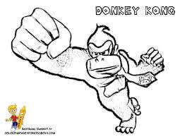 Donkey Kong Coloring At YesColoring
