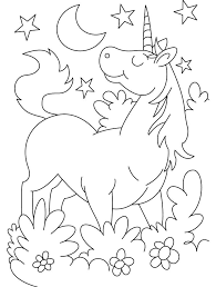 Cute Unicorn Coloring Pages Also Detailed Unicorn Coloring Pages