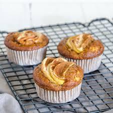 gesunde apfel bananen muffins