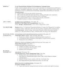 Events Planner Resume Event Objective