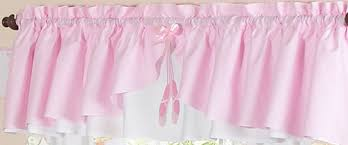 Pink Ruffled Window Curtains by Ballerina Ballet Shoes Pink Ruffled Window Valance For Girls