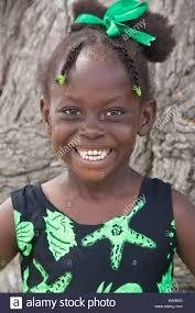 Bajan Girl Smiling And Posing Barbados West Indies