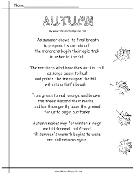 Halloween Acrostic Poem Words by Autumn Worksheets And Printouts From The Teacher U0027s Guide