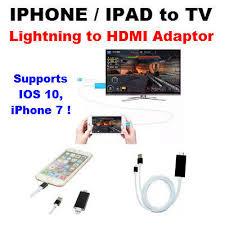 Qoo10 Lightning to HDMI HDTV TV Cable Adaptor for Apple iPad