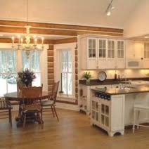 log cabin kitchen lighting ideas