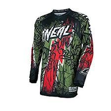 oneal 2017 motocross mtb men s shirt element vandal green