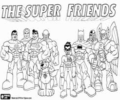 Super Friends Superman In The Comics Coloring Page