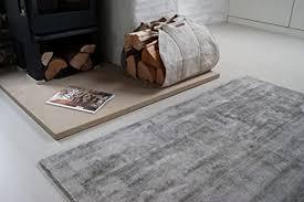 moderner teppich lounge grau 200x290cm edler designer teppich im vintage look
