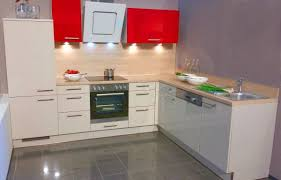 einbauküche mankamagro 2 magnolie rot hochglanz küchenzeile l form 295 x 235 cm mit e geräte