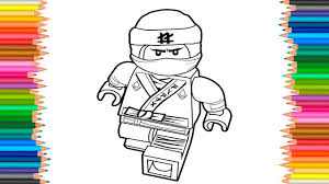 The LEGO Ninjago Movie 2017 Lloyd Coloring Page Book Videos For Children Learn Colors Kids