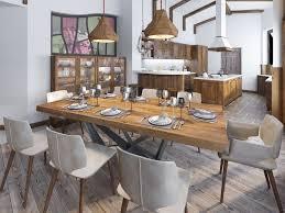 rustikale esszimmer küchen design magazin