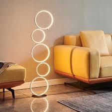 moderne ring led boden le indoor decor hause boden licht touch schalter stehle für wohnzimmer büro schlafzimmer beleuchtung