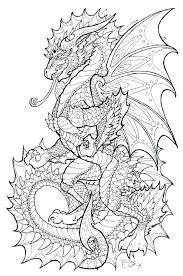 Realistic Dragon Coloring Pages Hard