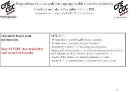 propositions syndicales de package applicable à tous les salariés